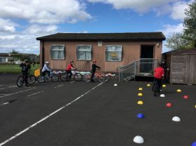 Primary 7 cyclists