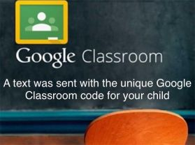 Google Classroom and home learning.